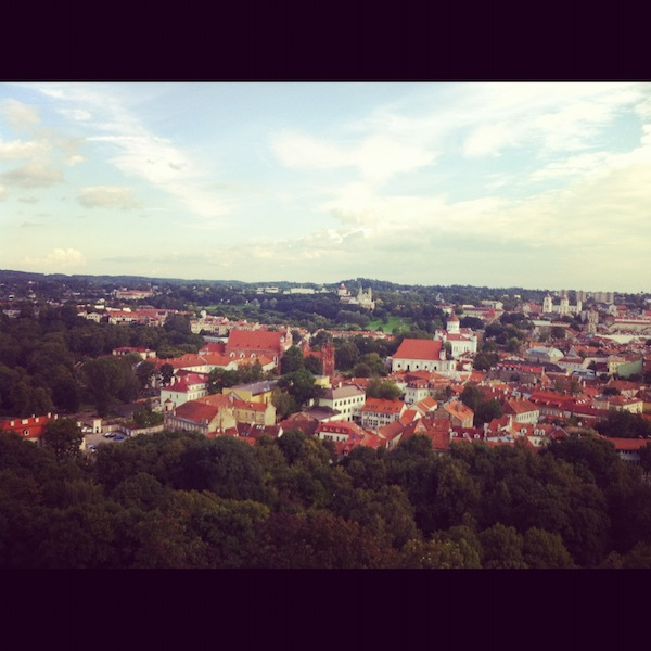 """View of Vilnius Lithuania"""