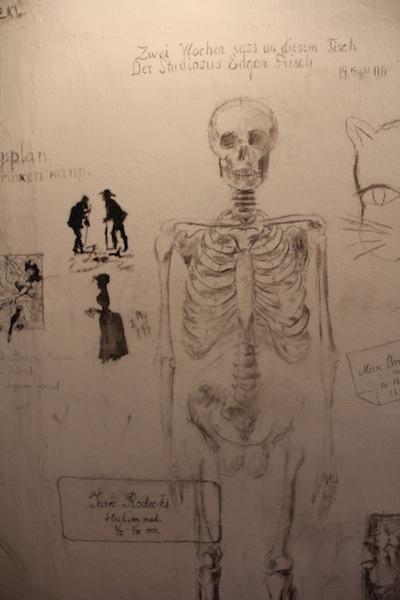 """Graffiti in University of Tartu Student Prison"""
