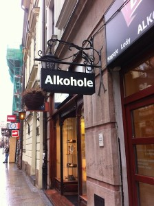 Funny sign in Krakow Poland