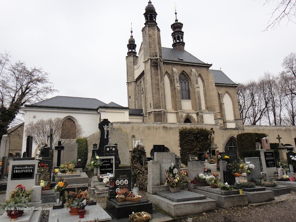 Outside of the Sedlec bone church or ossuary