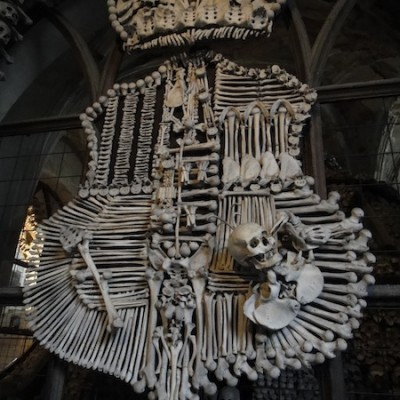 bones at the bone church in kunta hora