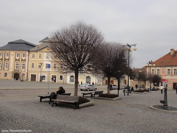 A Unesco World Heritage town square. That's what I meant to say.