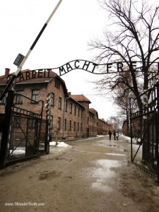 Entry gate to Auschwitz