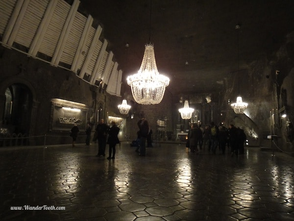 salt cathedral chandeliers