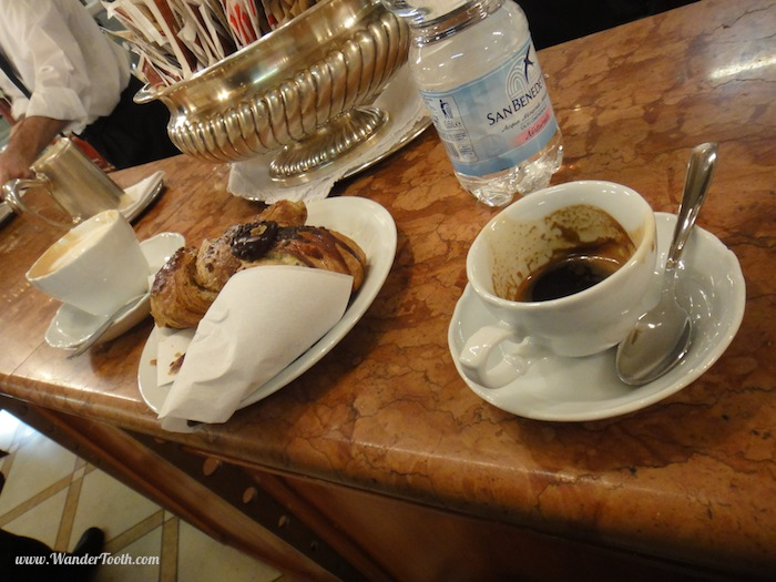 Italian coffee and pastries for Around the world in 80 drinks travel series