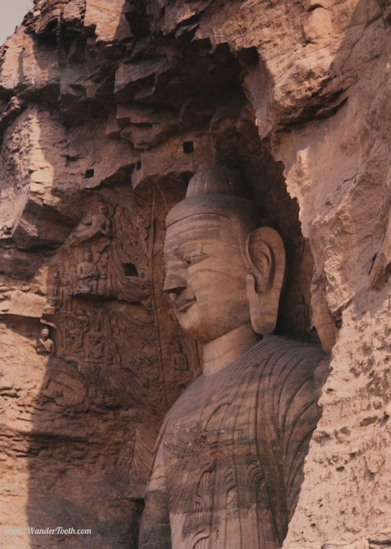 These are the Yungagan Grottoes which, together with the Dunhuang Caves, make up 2/3 of China's 3 famous Buddhist sculptural sites. What I'm trying to say is, same same but different.