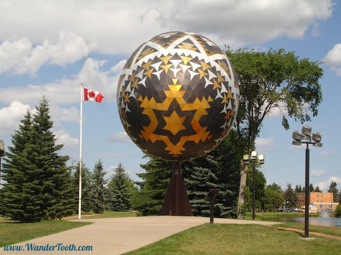 Like this, the world's largest Ukrainian Easter Egg