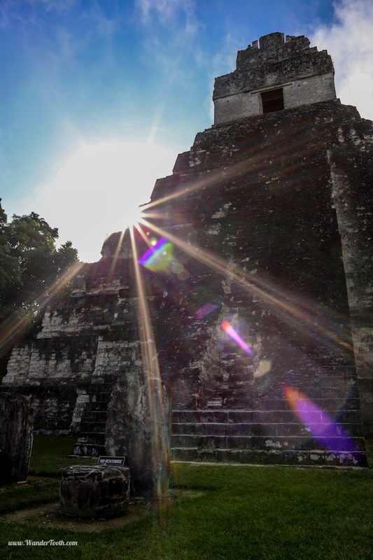 Tikal Guatemala Sunrise Tikal Shortly After Sunrise