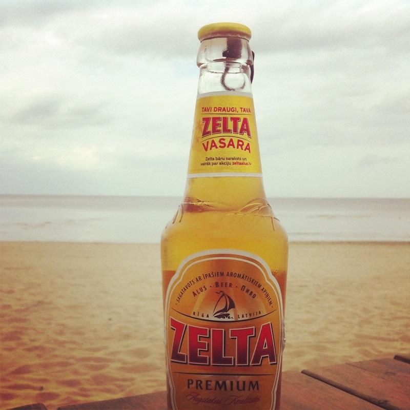 Zelta Beer Bottle at the Beach