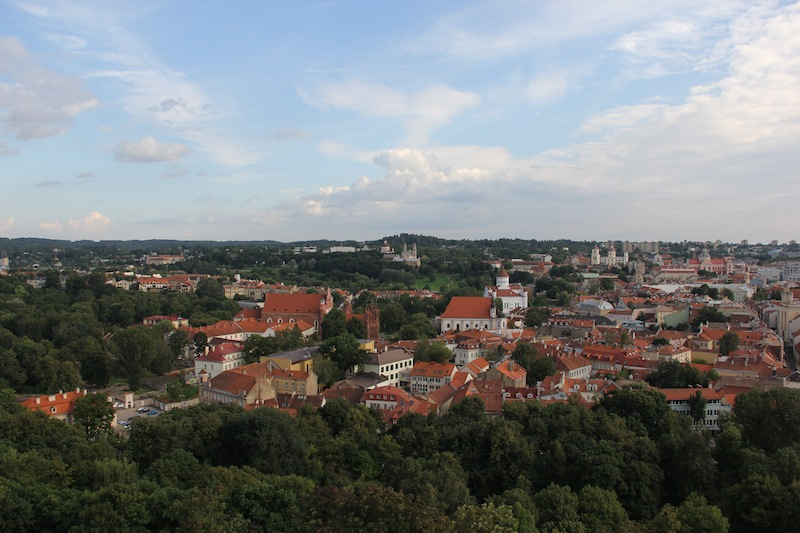 View of Vilnius Lithuania in Summer