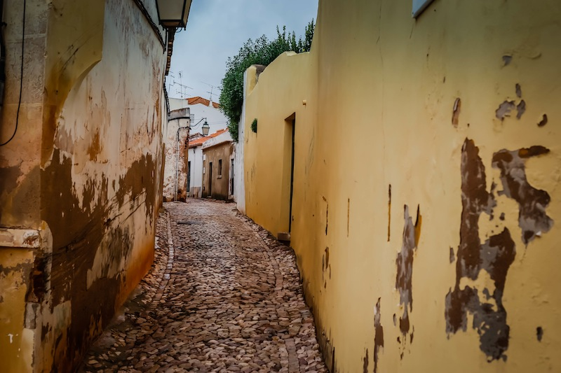 Road in Silves Portugal
