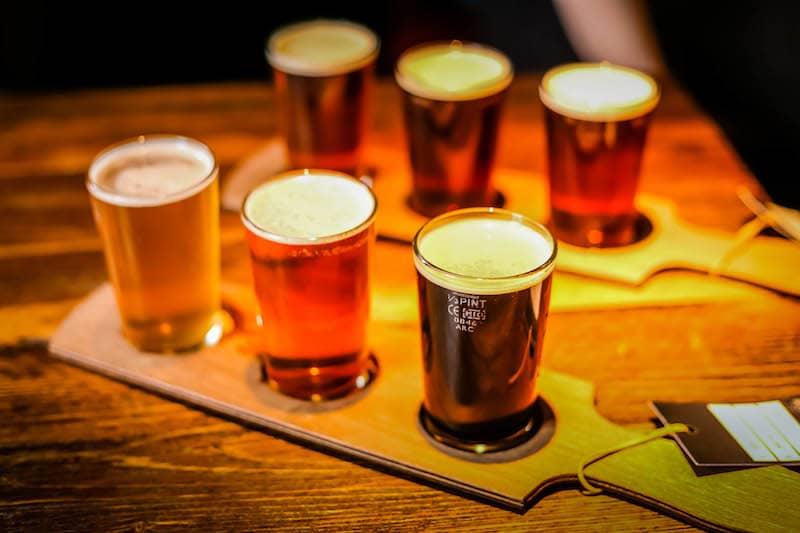 British beers scottish beers flight