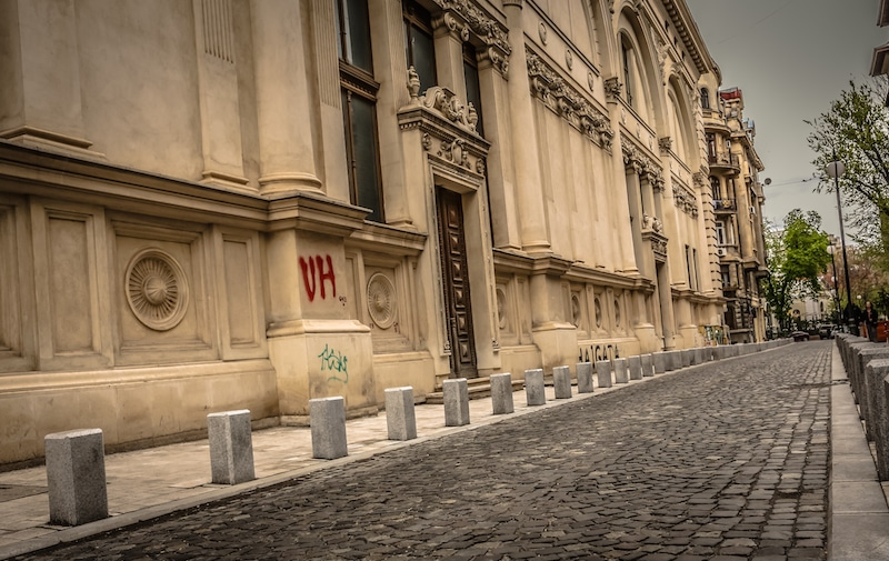 Romanian Athenaeum Exterior Rear Bucharest