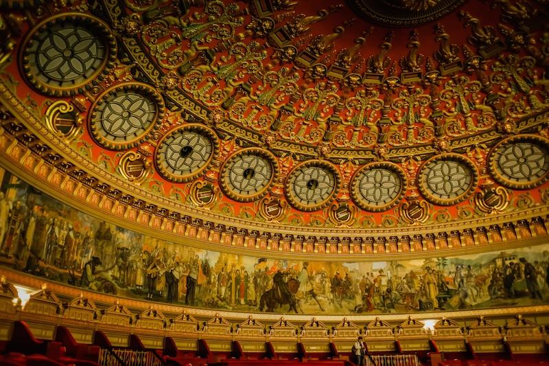 Interior of the Romanian Athenaeum Concert Hall in Bucharest Romania