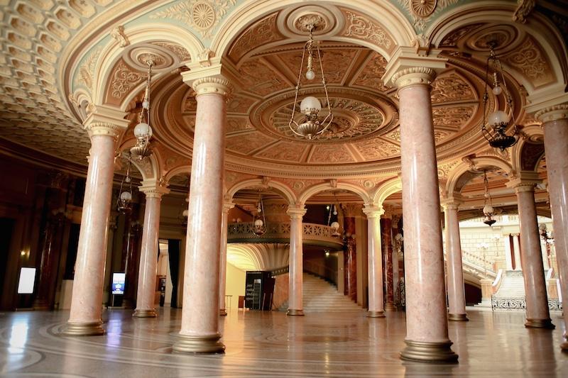 Exterior Shot Romanian Athenaeum Bucharest Lobby