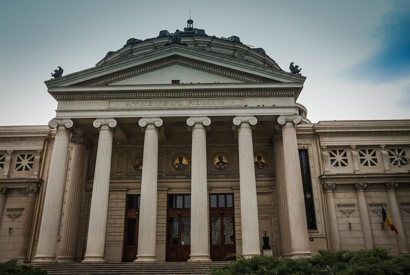 Romanian Athenaeum Exterior Bucharest
