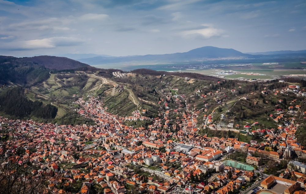 Brasov Romania and the Carpathian Mountains
