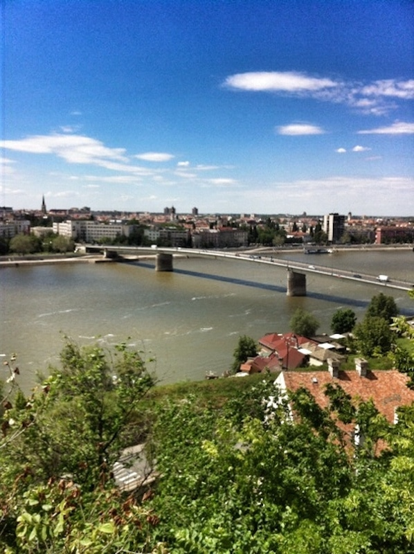 A bridge in Novi Sad, Serbia, which was bombed by NATO