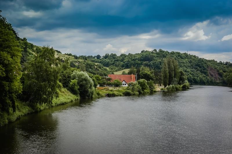 Berounka River near Karlstejn