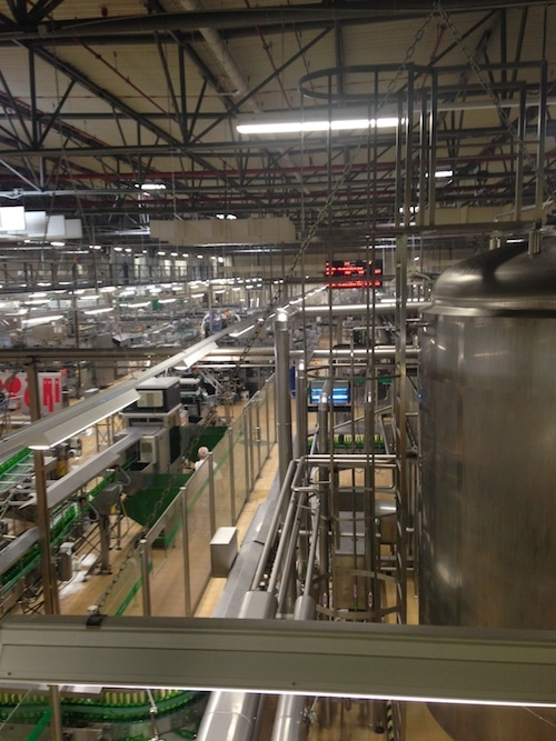 Inside the brewery.