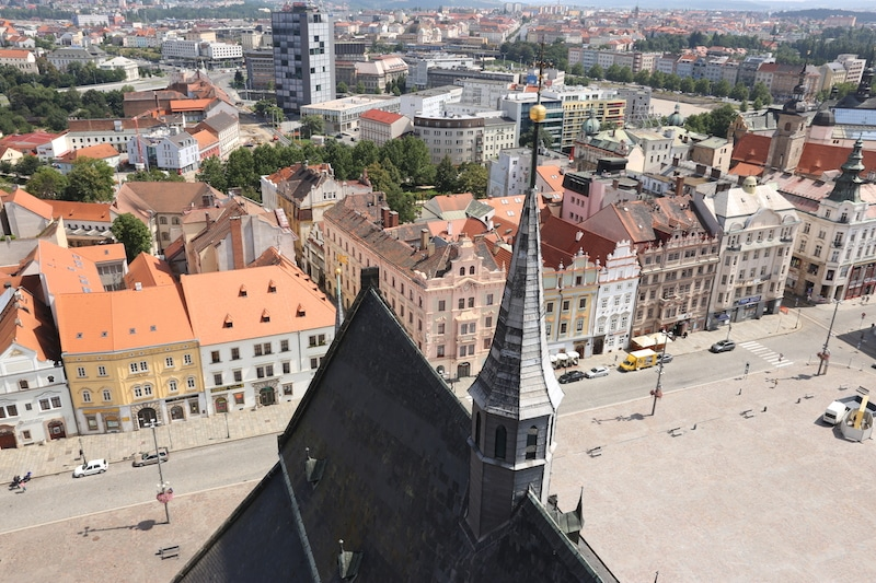View from St. Bartholomew's, Pilsen, Czech Republic