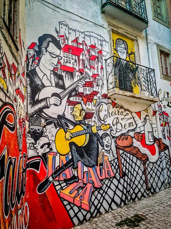 Graffiti in the Alfama district of Lisbon