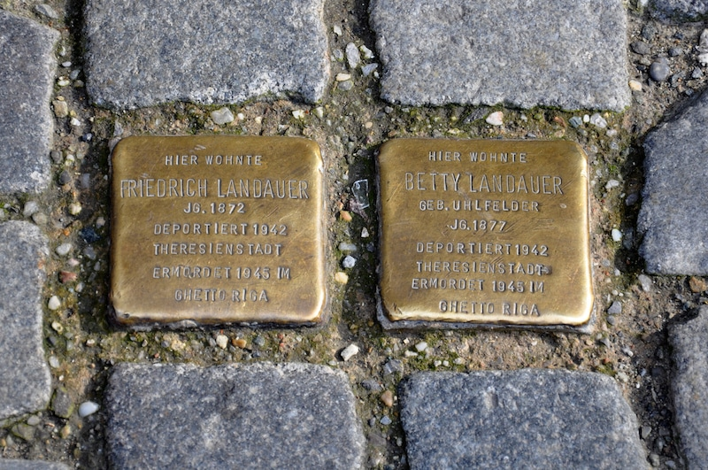 The Landauer's - a husband and wife deported to Theresienstadt and killed.
