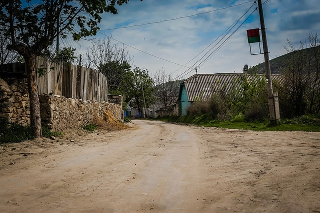 The main road through Orhei village