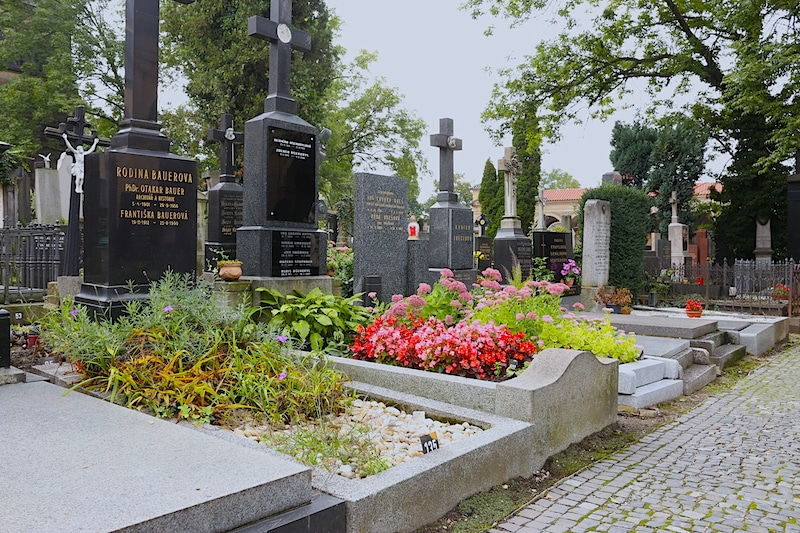 More cemetery at Vysehrad, Prague, Czech Republic