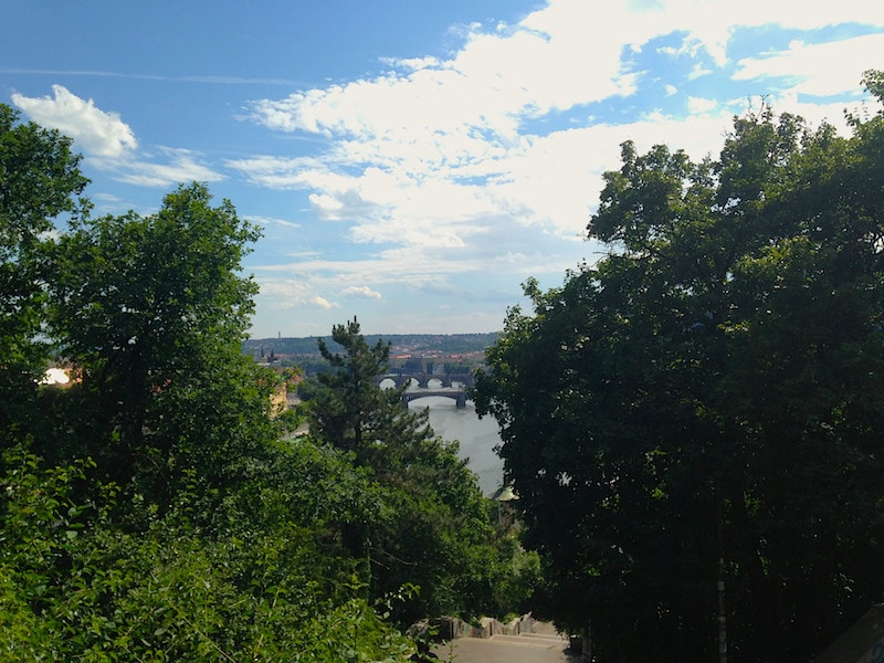 The view from Letna Park, Prague, Czech Republic