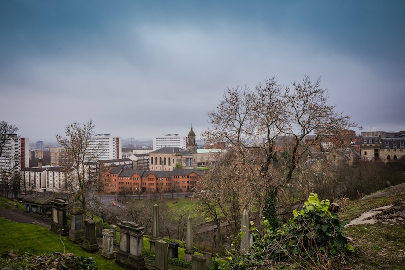 View of Glasgow from the top of the hill