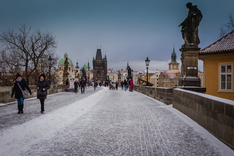 Charles Bridge, the first view