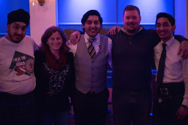 The great staff at Mister Singh's India in Glasgow with our good friends Nat and Tim from A Cook Not Mad.