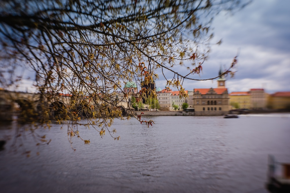 Charles bridge prague lensbaby