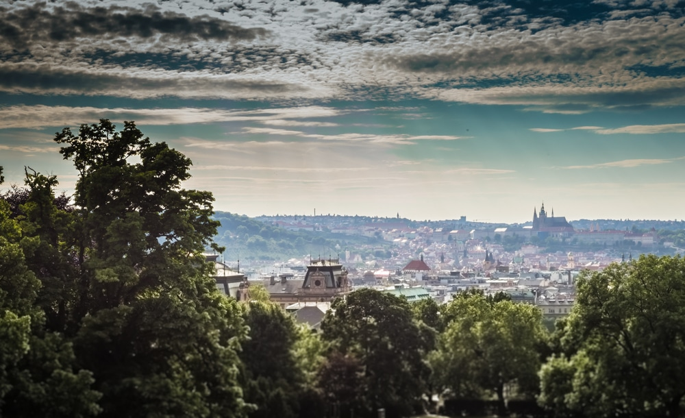 best views of prague from riegrovy sady park