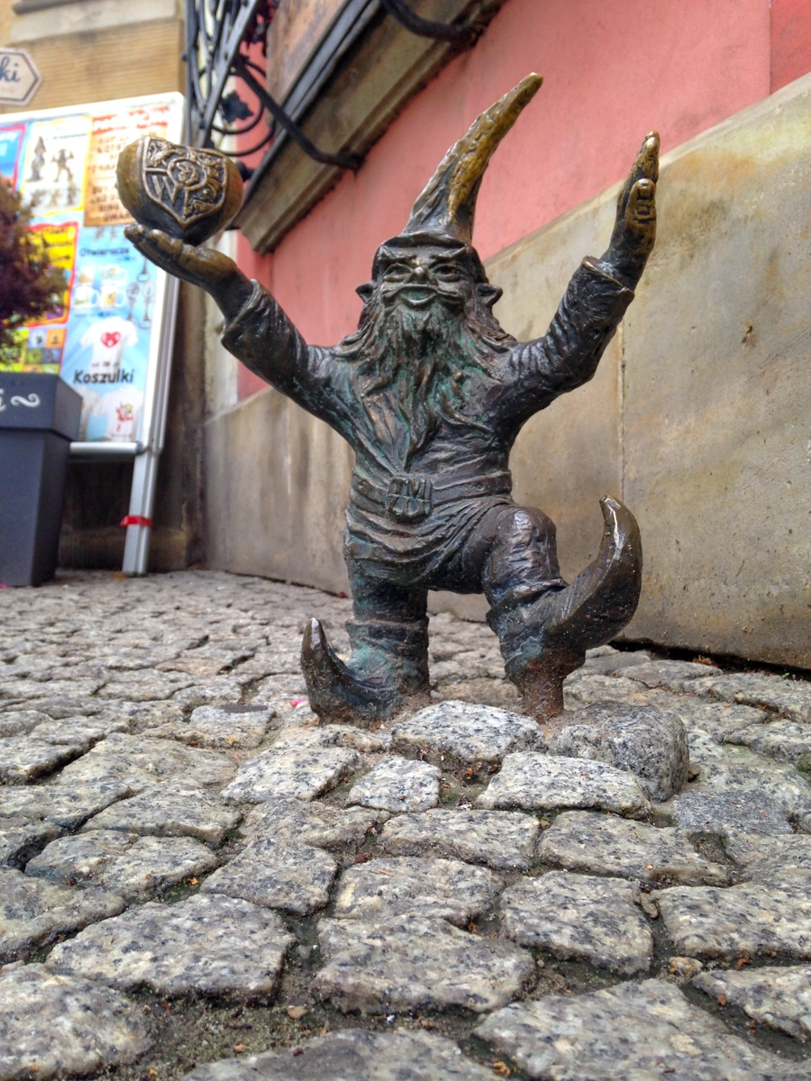 WrocLover gnome wroclaw poland