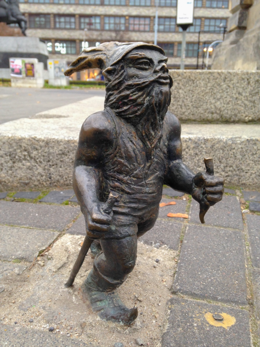 Wroclaw Gnome The Hiker