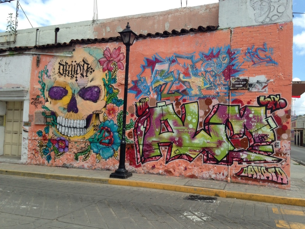 Street art graffiti Living in Oaxaca Mexico
