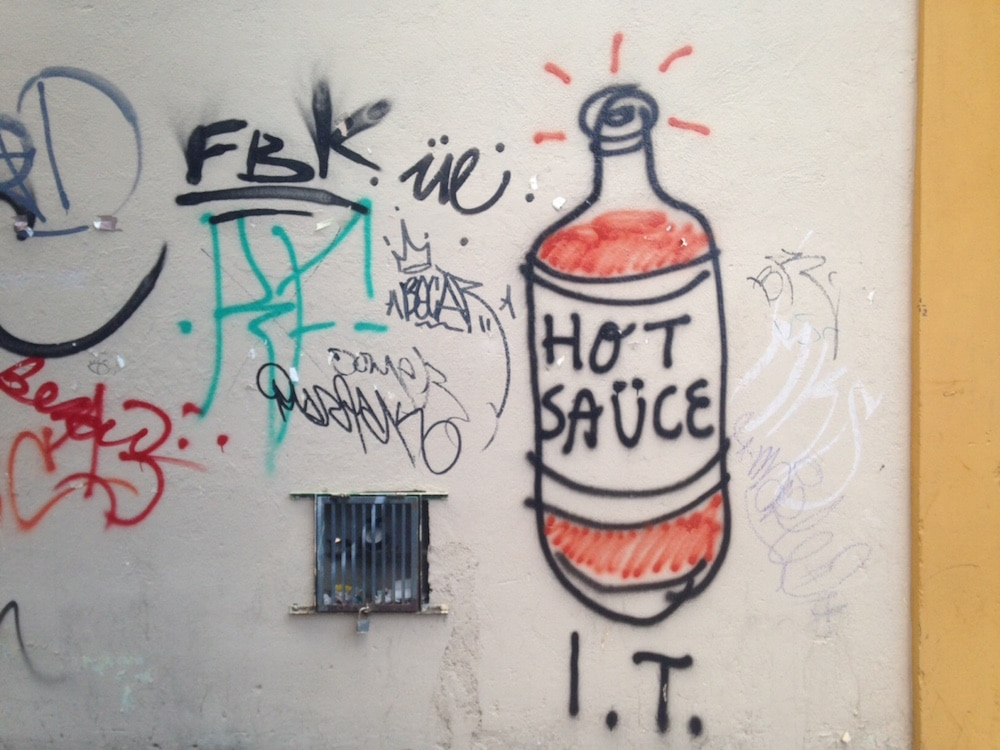 Hot Sauce Graffiti Living In Oaxaca Mexico