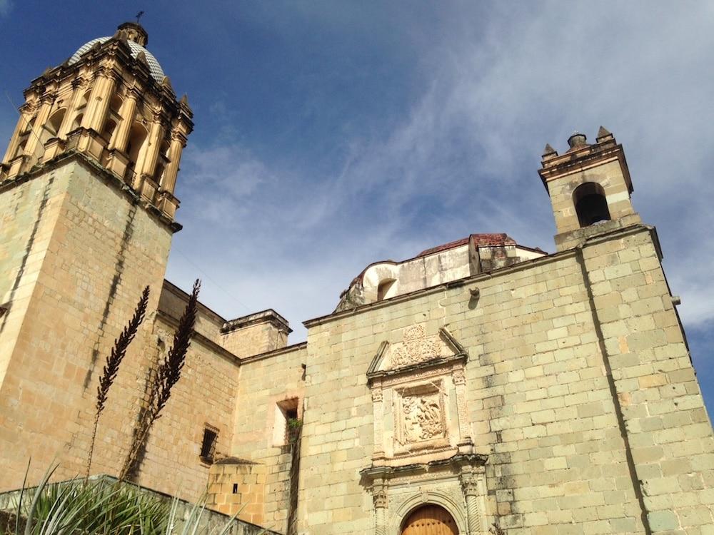 Blue skies Oaxaca Mexico