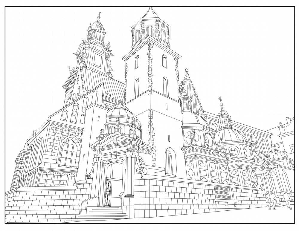 adult coloring book travel image