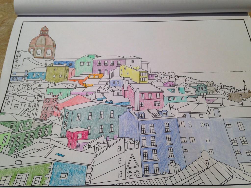 lisbon portugal adult coloring book image