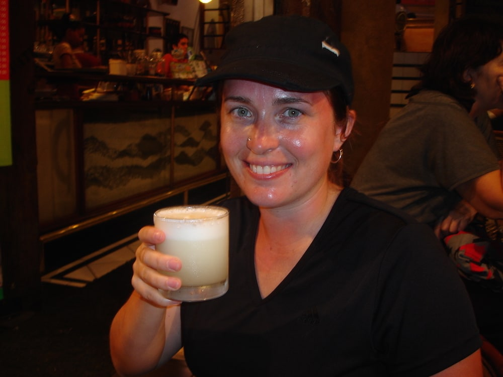 Katie Matthews drinks pisco sour lima peru