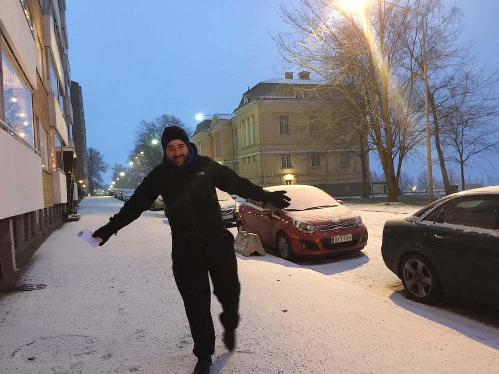 Dave Brett in Finland