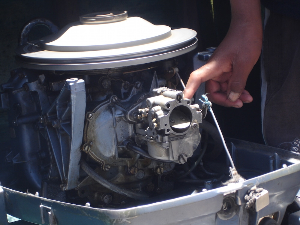 Our fearless captain's finger, which made the engine go