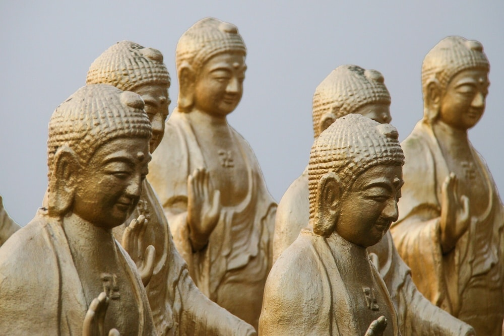 Travel Between the Lines Coloring Book Buddha Statues