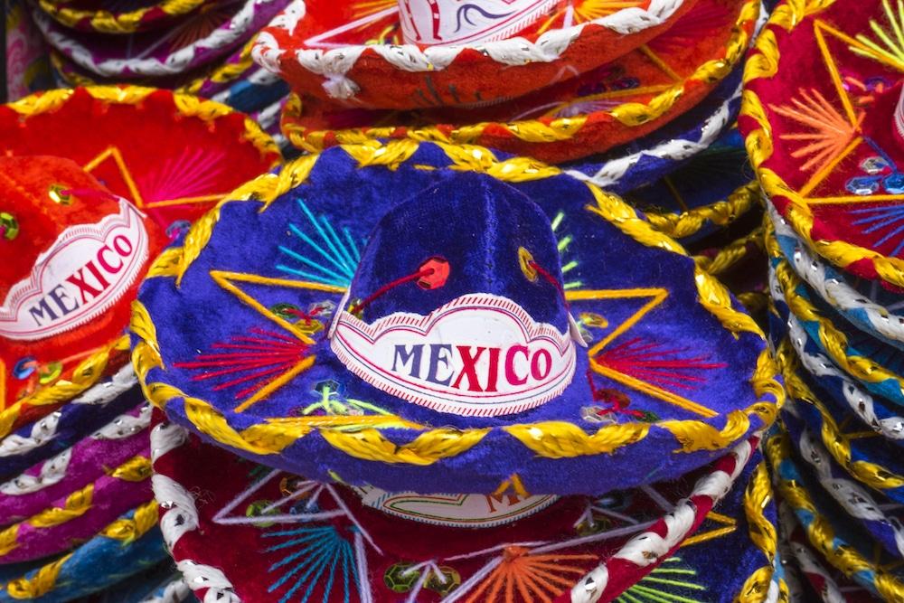 souvenir sombreros from Coloring Mexico coloring book