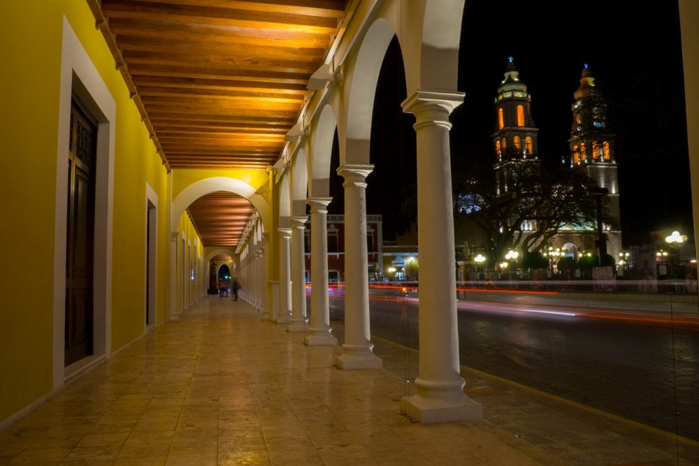 Campeche Mexico at Night
