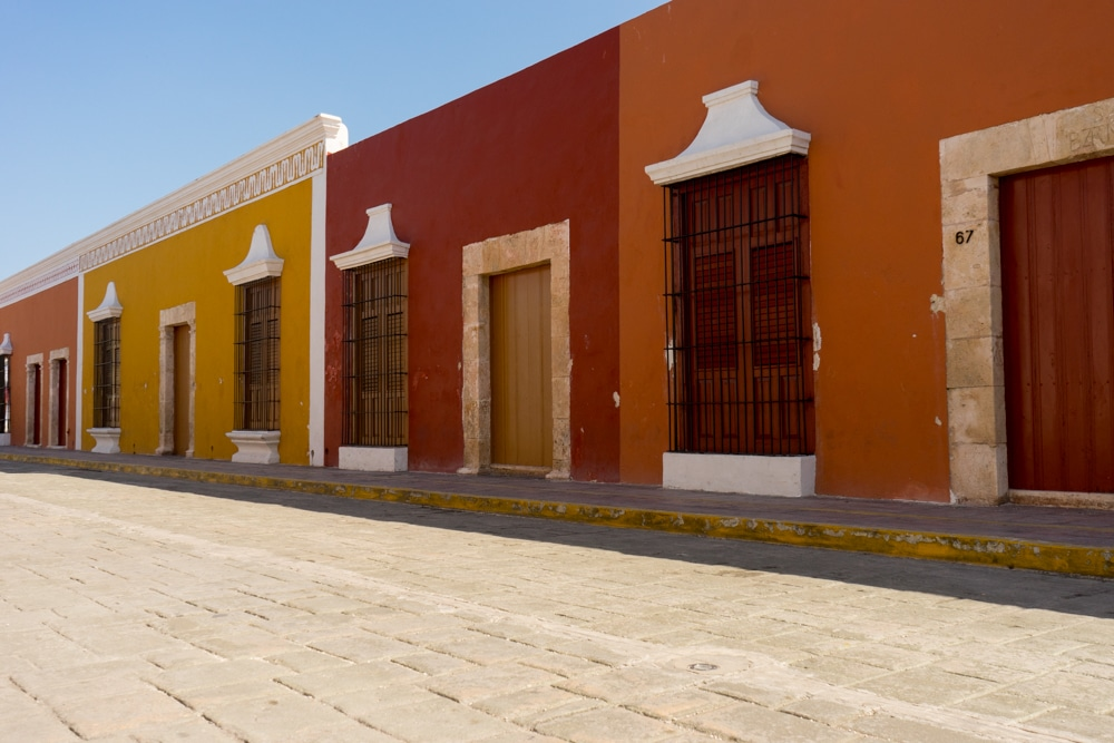 Campeche Mexico Colorful Buildings