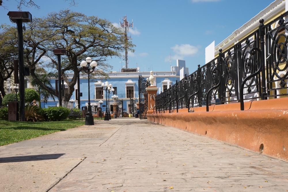 parque principal campeche Mexico